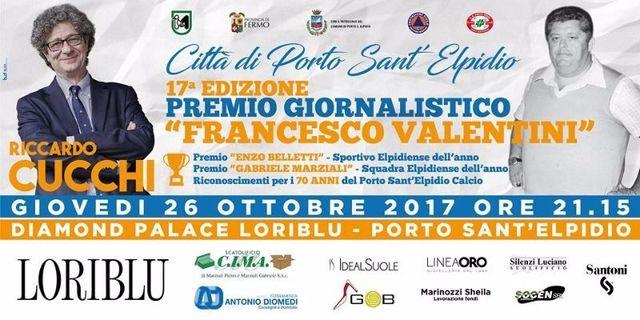 """P.S.-Elpidio:-premio-giornalistico-""""Francesco-Valentini""""-a-Riccardo-Cucchi.-Domani-al-Diamond-Palace-Loriblu-la-cerimonia-di-premiazione"""